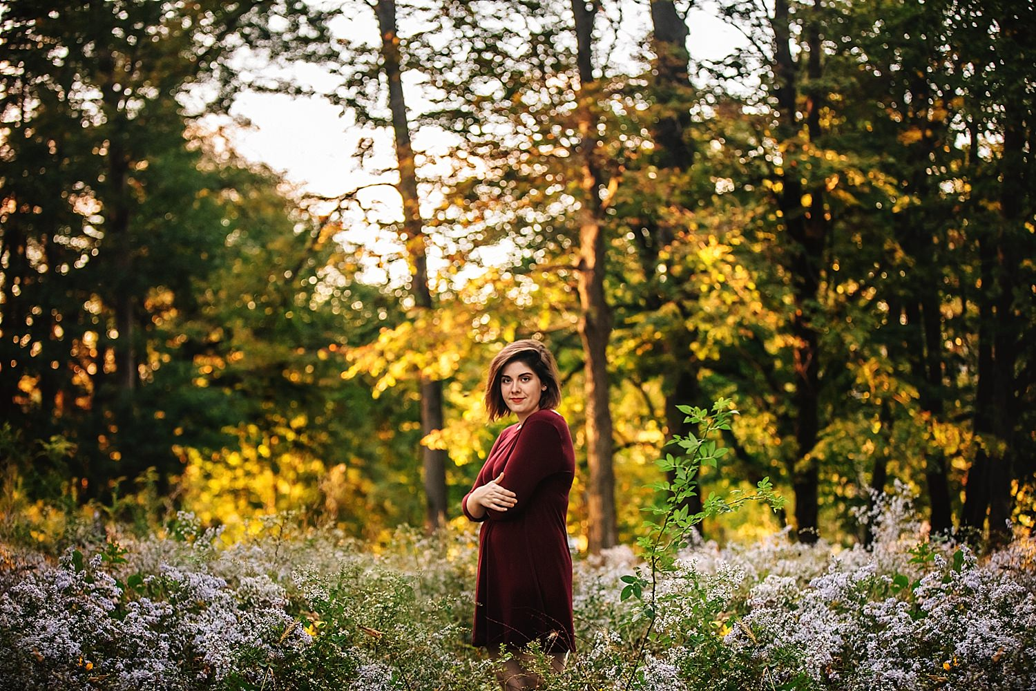 girls senior pictures at dawes arboretum in newark ohio