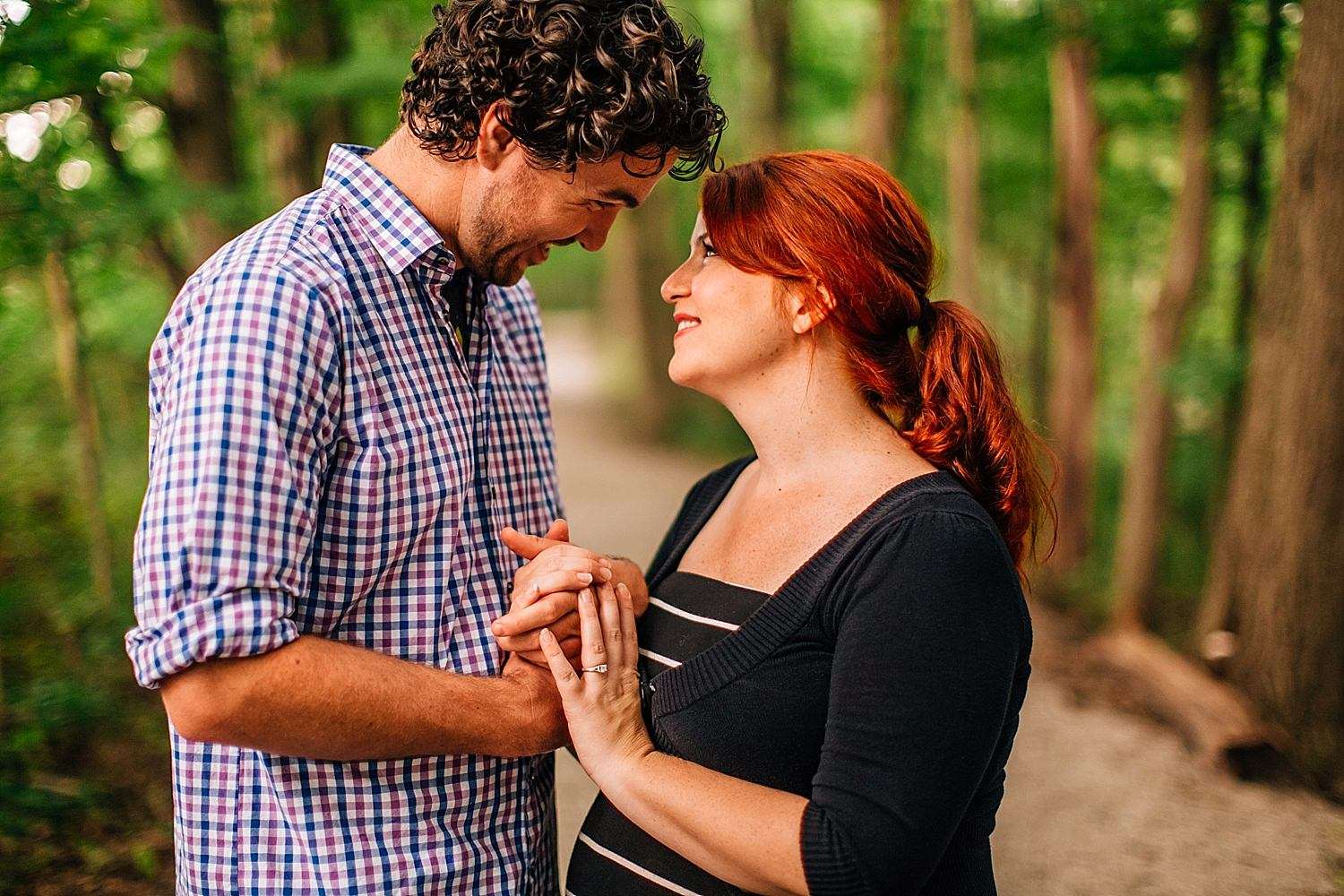 engagement pictures at deer haven preserve in delaware ohio