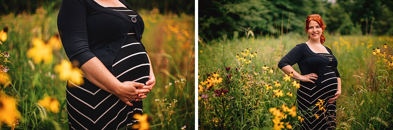 maternity pictures at deer haven preserve in delaware ohio