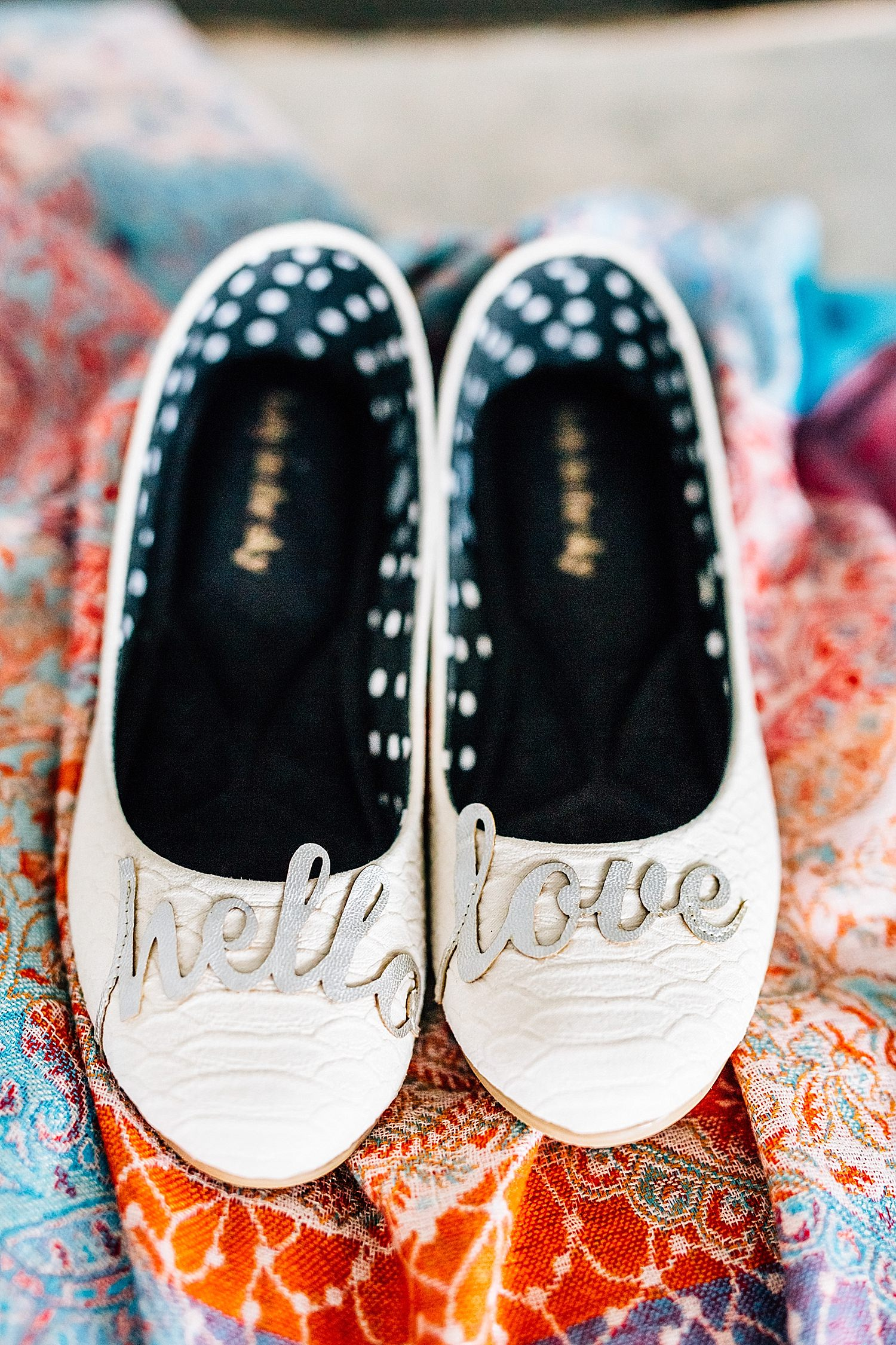 brides shoes and details in church wedding in delaware ohio
