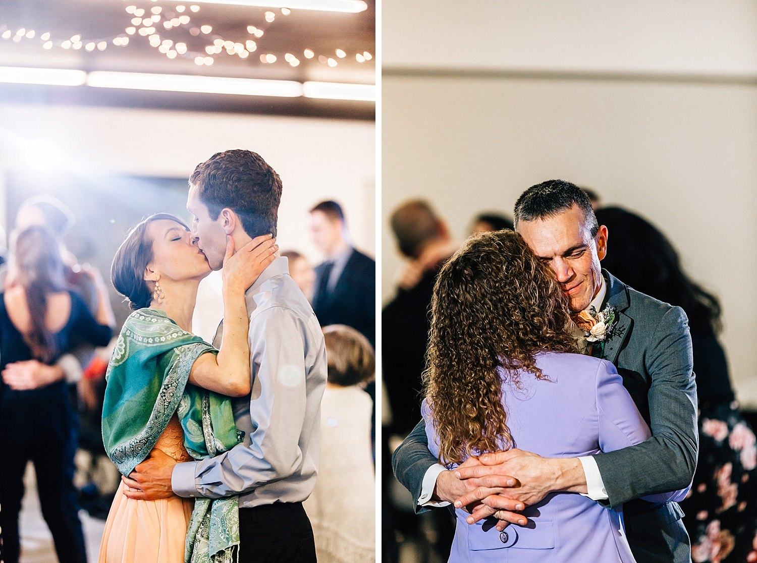 guests dance during reception of church wedding in delaware ohio