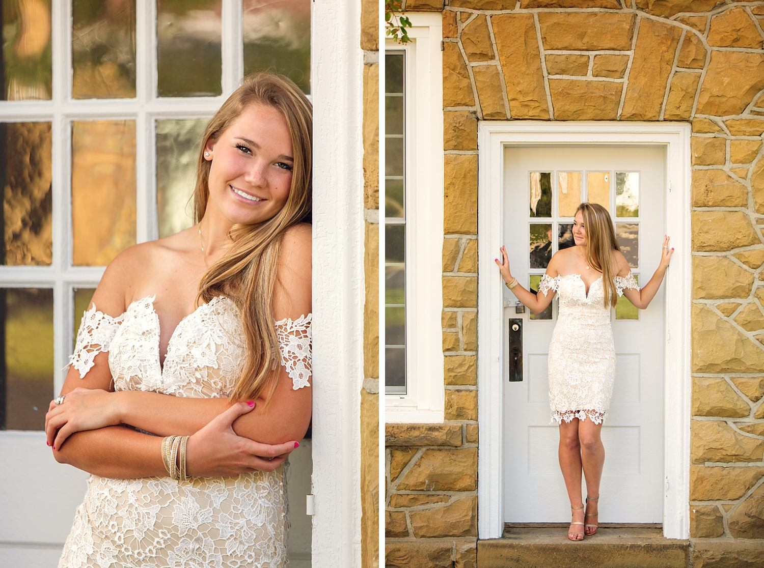 outdoor High school senior portraits at bryn du mansion in granville ohio