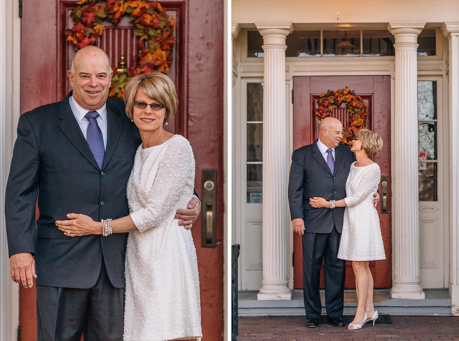bride and groom married at buckingham house in newark ohio