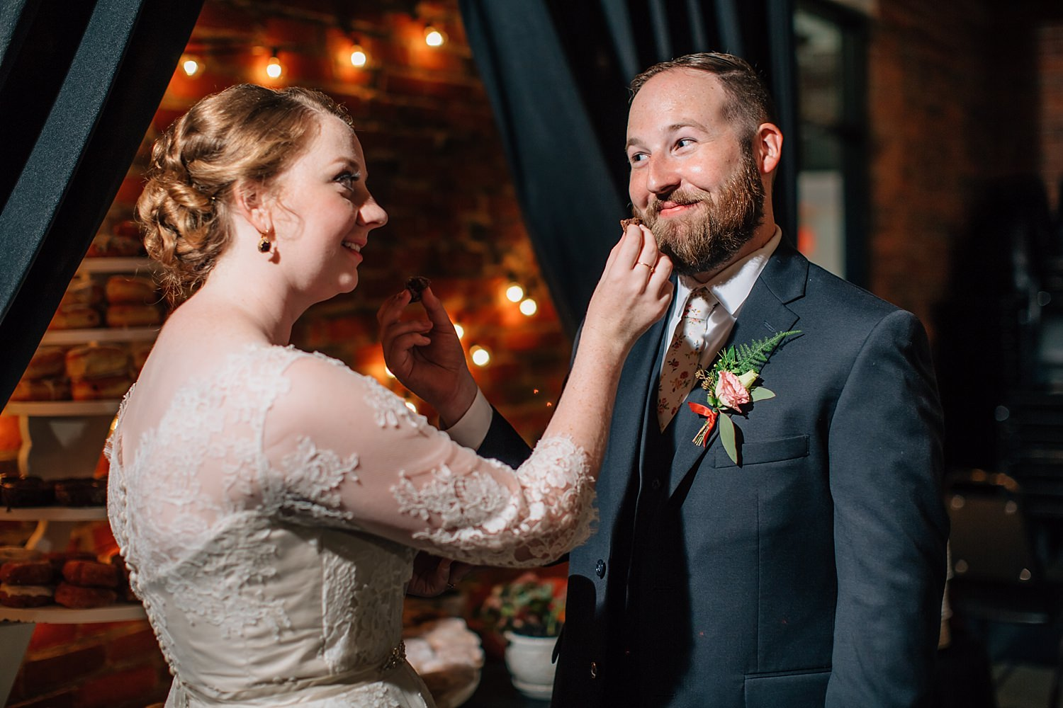 wedding ceremony and reception at roosevelt coffee house in ohio