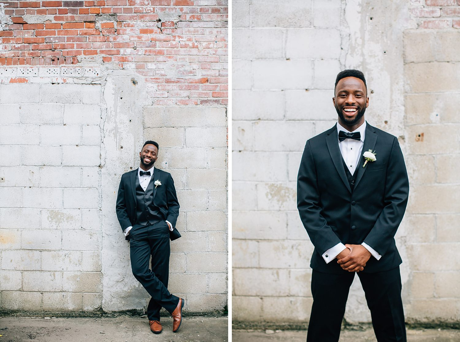 groom portraits outdoors in natural light
