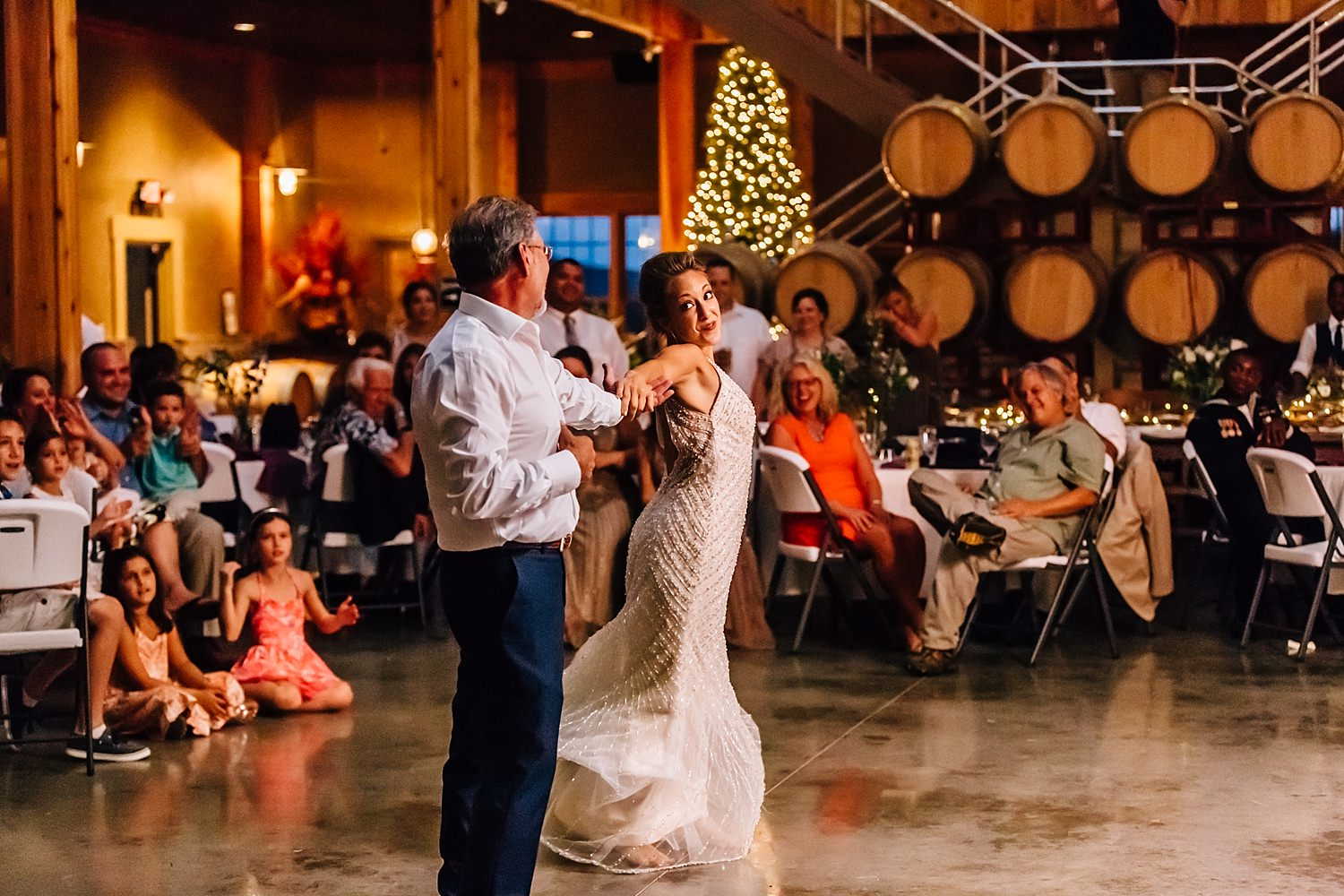 indoor wedding at the tool shed breitenbach wine cellars in dover ohio