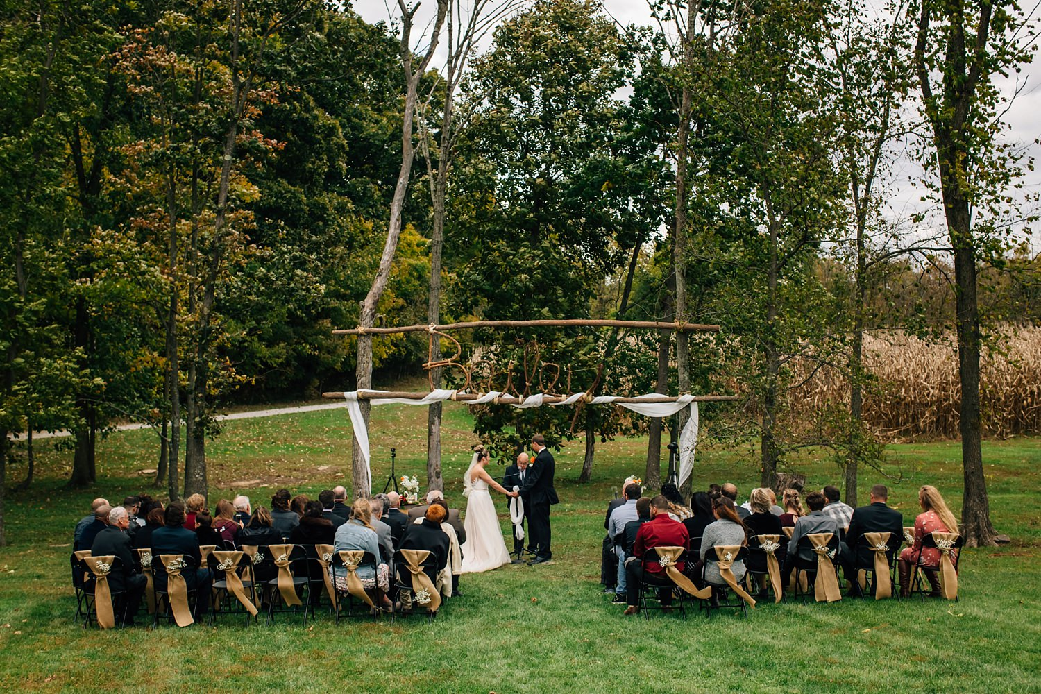 small wedding ceremony in johnstown ohio