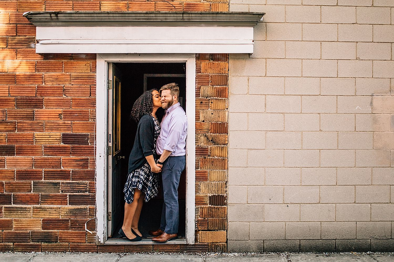 engagement photos taken outdoors in bowling green ohio