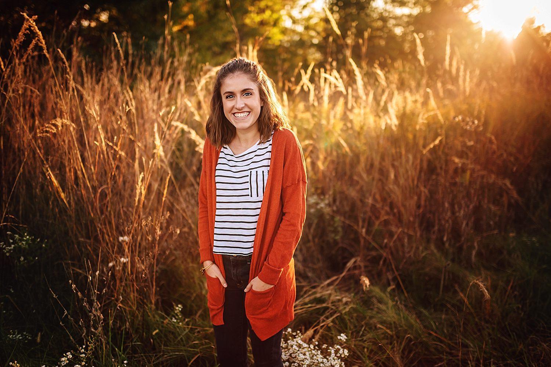hayes high school senior portraits take at deer haven preserve in delaware ohio